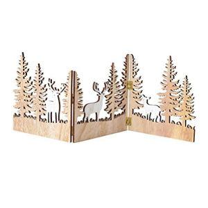 Abaodam Mini clôture de jardin en bois en forme d'élan – Décoration de Noël miniature – Décoration de maison ou de jardin
