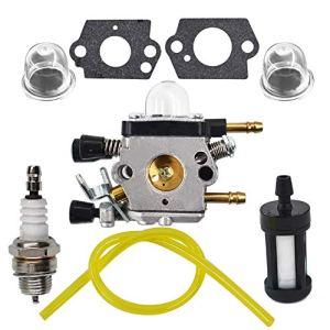 AISENPARTS Remplacement du kit de filtre de tuyau de carburant de filtre à air de carburateur en alliage daluminium pour ventilateur à feuilles Stihl BG45 BG46 BG55 BG65 BG85 SH55 SH85 remplacer