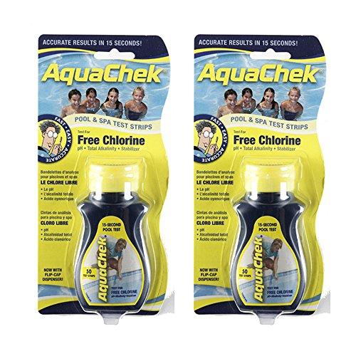 Aquachek Lot de 2 bandelettes de test 50 4 voies pour spa, jacuzzi, piscine