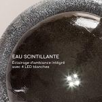 blumfeldt Ocean Planet Fontaine Solaire de Jardin – Panneau Solaire : 2W/300 cm² de Surface photovoltaïque, Batterie : jusqu'à 8h de Fonctionnement / 3,7 V / 2 Ah, Extérieur, Polyrésine