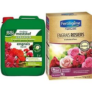 BSI Engrais pour Géranium/Plante Fleurie 5 L & Naturen Engrais Rosiers et Arbustes A Fleurs 1,5 kg
