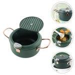 Cabilock Tempura Friteuse Pot Poêle Anti- Adhésive Pot Style Japonais Pot Friteuse avec pour Poulet Légumes Français Frites Puce Viande
