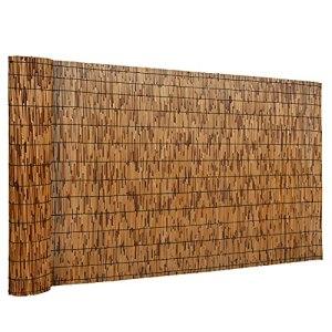 DearHouse Clôture en roseau naturel, respectueuse de l'environnement, 1 m de haut x 4,1 m de long, clôture en roseau pour jardin, intimité