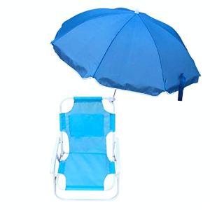 Dreafly Chaises Pliantes et parasols de Plage pour Enfants Chaises Longues inclinables de Plage en Plein air Chaises de Pont Portables multifonctionnelles Pliantes pour Enfants