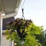 Esylife Mangeoire à oiseaux de 30cm pour arbre ou pot de fleurs–Fabriqué en acier inoxydable–Solide et résistant à la rouille