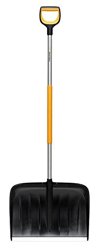 Fiskars 1057178 X-Series Chasse-Neige, Noir/Orange/Gris