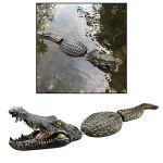 FLAMEER Flottant Crocodile Tête l'eau Leurres-Jardin ou Étang Art Décor pour Goose, Prédateur, Héron, contrôle de Canard, Multi Style à Choisir – Style 4