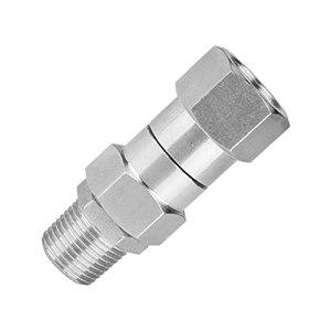 FLAMEER Joint pivotant de Nettoyeur Haute Pression Raccords de tuyaux 3/8 Pouces Connecteur 4500 PSI, Anti-Corrosion, Résistance à l'usure