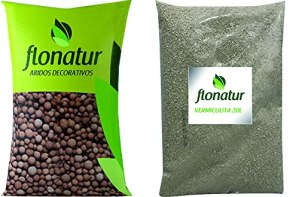 flonatur ARL+VER Arlite 20 L + Vermiculite, Marron