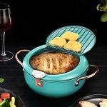 Friteuse de cuisson, durable avec poêle à frire profonde, pour la cuisine à domicile