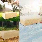 Grand patio Housse Salon de Jardin, Imperméable, Anti-UV, Carré Housse de Meuble, Housse de Protection pour Table, Meubles, Bancs, 210x110x80cm (Beige)