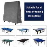 Housses pour Table de Ping Pong, Couverture Tables de Tennis de Table de Jardin l'extérieur 210D / 420D Tissu Oxford Robuste, Protection Étanche 185*70*165 cm (420D Tissu Oxford Robuste,Grise)