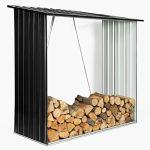 IDMarket – Abri de Stockage 2 m³ Gris en Acier galvanisé pour bûches