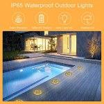 Lampes solaires pour extérieur, Opard 8 LED Lampes solaires pour extérieur, jardin, jardin, jardin, jardin, jardin, terrasse, IP65 étanche