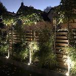 LASIDE Lot de 2 Eclairage Projecteur de Jardin Spot Exterieur avec Piquet, IP65 GU10 Anthracite Aluminium Lampe Lumiere Luminaire 2,0M Câble avec Prise, Éclairage pour Chemins, Plantes, Terrasse Basin