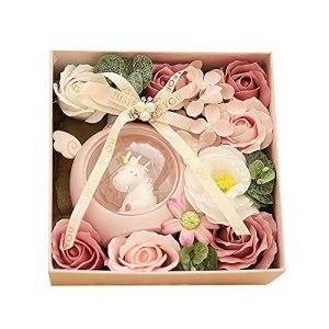 MAVL Cadeau Fete des Meres Boite Roses eternelle petale de Rose eternels Savon Bain parfumé Floral pétales Fleur Rose, for Femmes Filles Maman Anniversaire Valentine noël (Couleur : Rose)