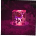 NIDONE Lumières Affichage Base de Base en Bois Tableau de Base USB allumé pour Une Boule de Cristal 3D (Pas de Boule de Cristal)