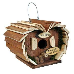 Nouveauté Maison Oiseau Hôtel Boite d'oiseaux Log Cabine Très Détaillé Predator Étanche Nichoir Oiseau pour Petits Oiseaux Jardin Ornements – Oiseau en Bois Hôtel