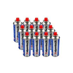 Pack de 12 cartouche gaz ALPENTECH 227g butane Bouteille de gaz UN2037 pour réchauds et désherbeurs thermiques