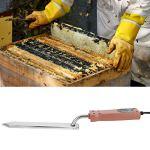 SALUTUY Équipement d'extraction de Miel, Couteau pour Le contrôle de la température du Miel Outils d'apiculture en Acier Inoxydable pour l'apiculture pour l'extraction de Miel(Bleu)