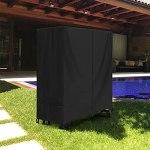 SIRUITON Housse de Table de Tennis de Table Imperméable Housse de Table de Ping Pong de Jardin Tissu Oxford 420D Noir (165 x 70 x 185 cm)