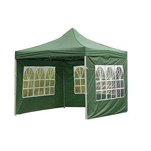 Tente d'extérieur en tissu Oxford 210D imperméable, résistante à la pluie, coupe-vent et protection solaire transparente, clôture 3 m (vert)