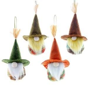 Thanksgiving Plush Gnomes Decorations Faceless Dolls Harvests Festival Ornaments 4PCS