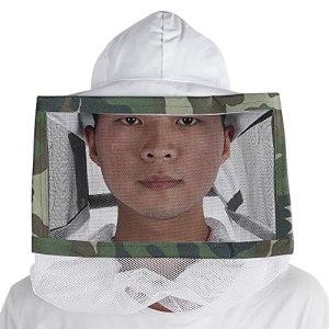 Tomantery Équipements d'apiculteur, Chapeau de Filet de Protection en Coton, Chapeau de Voile d'apiculture, Protection intégrale Respirante, Chapeau d'apiculture pour Apiculteur