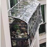 Transparent Bâche de PVC,Balcon Pluie Couverture Imperméable Poncho Tissu en Plastique,Jardin Extérieur Rideau Baffle Crème Solaire,avec Oeillets,Plant Isolant d'auvent,400g/m² (2.2x4m/7.2x13ft)