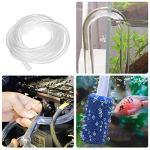 Tuyau PVC, BoloShine 10 Metres Tuyau Aquarium Tube Plastique, Tuyau Transparent de Pression, Flexible d'Air Tube Tuyau de Carburant Tuyau d'Huile Durable, 7 MM ID x 9 MM OD