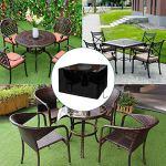 ZHCHL Housse Table Jardin Carre 80x80x80cm, Housse Table De Jardin Noir Tissu Oxford Iimperméable Anti-UV Housse De Meuble Housse, pour Extérieur, Terrasse