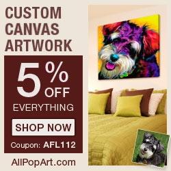 Pop Art Dog Portrait