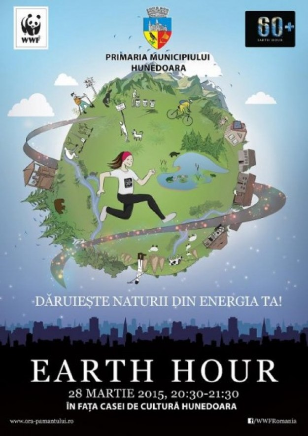 Afiș oficial WWF-Earth Hour 2015