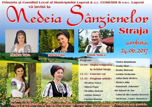 Rapsozi de marcă vor cânta în Straja la Nedeia Sânzenelor