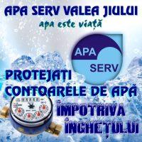 Recomandare de la Apa Serv Valea Jiului: Protejați apometrele împotriva înghețului !