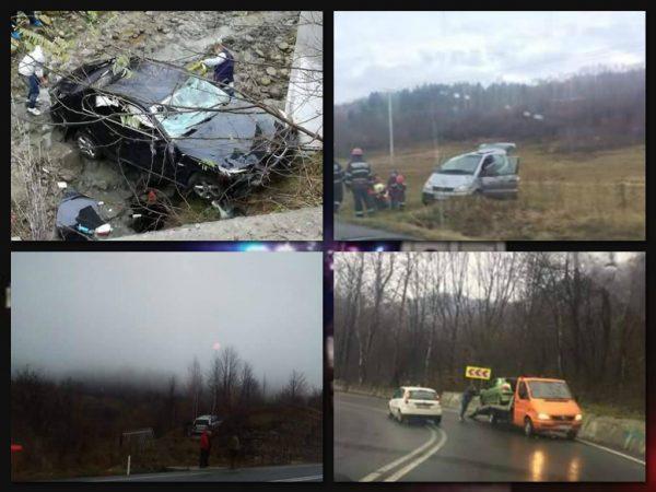GALERIE FOTO. Weekend plin de accidente pe şoselele judeţului HUNEDOARA.