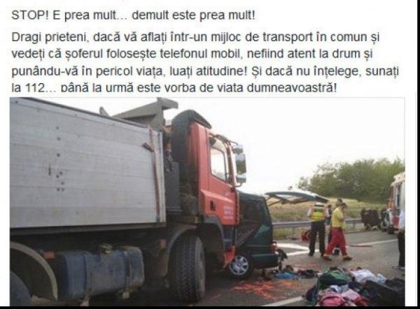 Apel MAI după groaznicul accident din Ungaria: Dacă șoferul mijlocului de transport în comun folosește mobilul, luați atitudine! Sunați la 112!