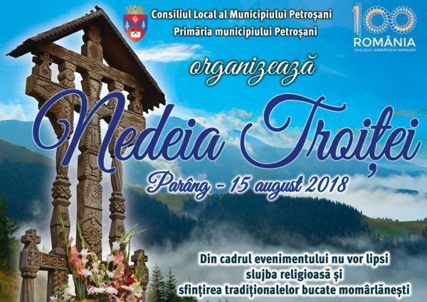 Cetățenii Petroșaniului invitați în Parâng, la Nedeia Troiței