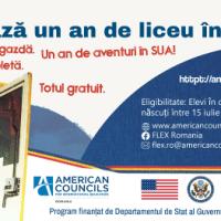 Sunt deschise înscrierile liceenilor pentru bursele de studii în Statele Unite, FLEX 2021-2022,