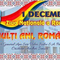 Mesaj de Ziua Națională / Cristian Ionică – director general Apa Serv Valea Jiului