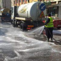 Străzile din Vulcan vor fi spălate și dezinfectate, într-o amplă acțiune care se derulează sâmbătă, 24 aprilie