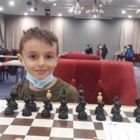 Rareș Apostu din Petroșani, vicecampion național la șah rapid, la numai 6 ani