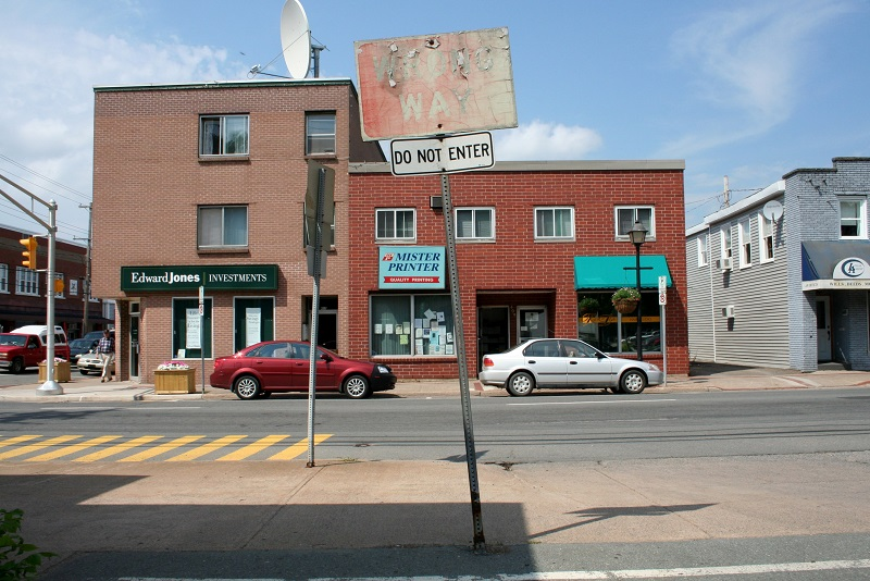 wrong way, sign, wabi-sabi, Kentville, Nova Scotia, Avard Woolaver