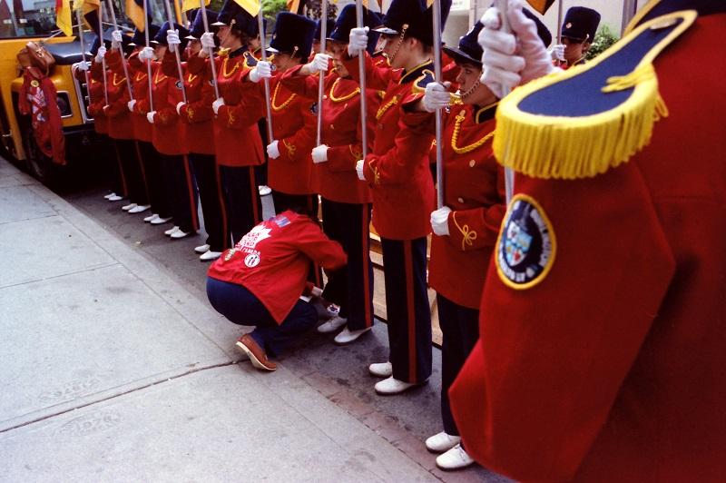 marching band, Toronto, shutter, 1983, Avard Woolaver
