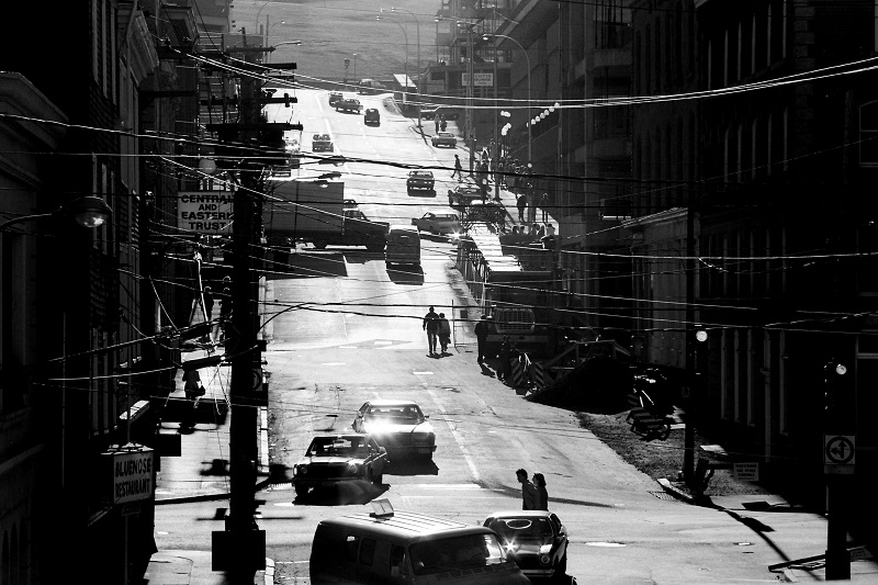 light, lighting, high-contrast, Halifax, Nova Scotia, 1980, Avard Woolaver