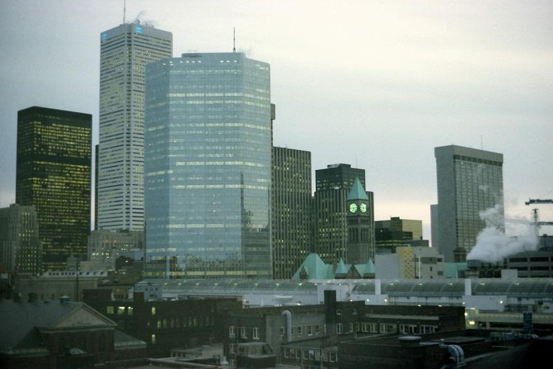 change, Toronto skyline, 1982