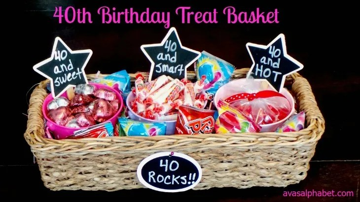 40th Birthday Treat Basket
