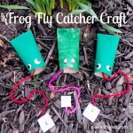 Frog Fly Catcher with Printable Flies