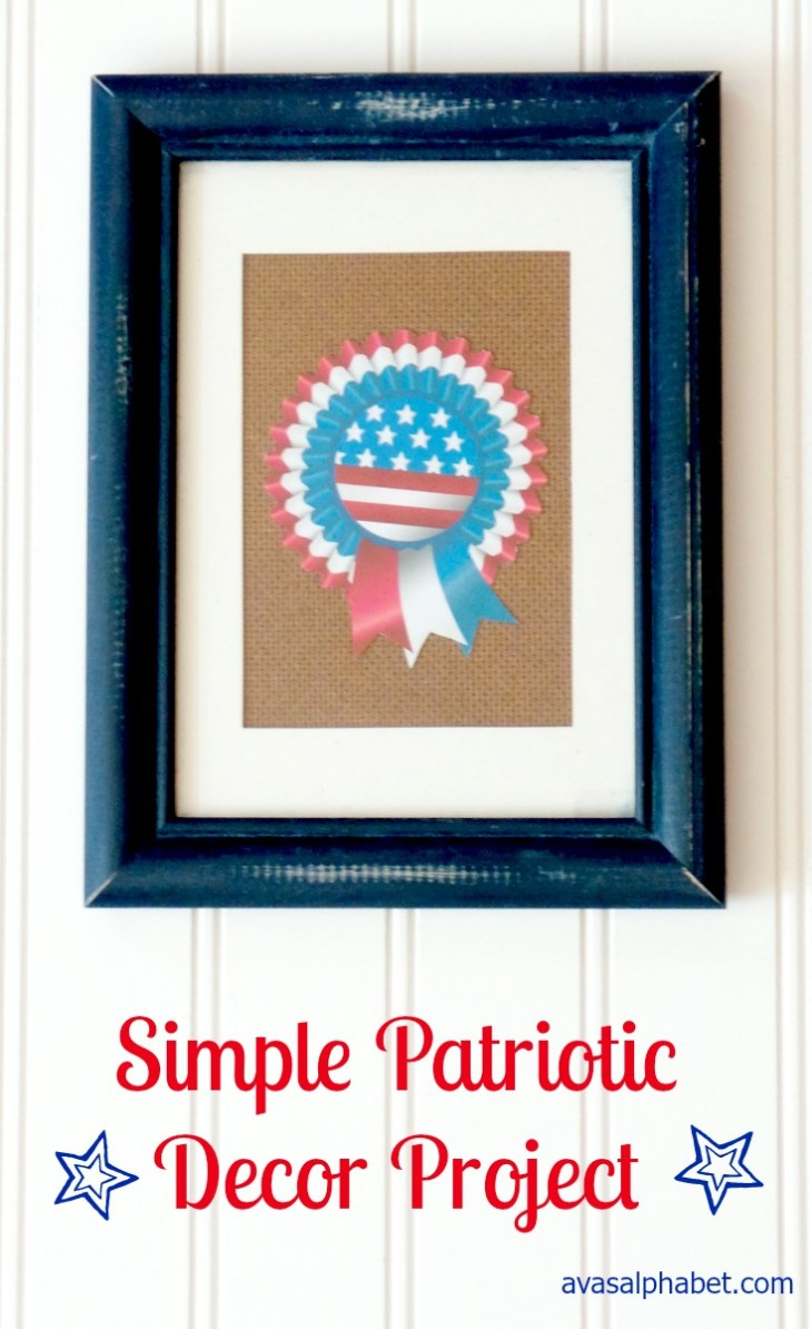 Simple Patriotic Decor Project