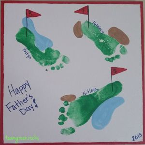 Father's Day Golf Footprints